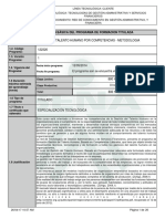 Infome Programa de Formación Titulada ESPECIALIZACION GTHXC 122320
