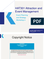 HAT301 T2 2019 Workshop 04 v1 Attraction and Event Manageent