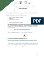 Instructivo Evaluación Práctica Al 29 de Julio de 2019