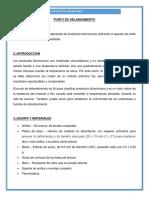 PUNTO DE ABLANDAMIENTO