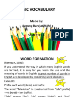 Basic Vocabulary Teaching 2018-2019
