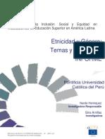 Etnicidad y Género Temas y Tendencias Narda Henríquez y Gina Arnillas1
