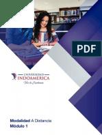 Módulo I. Modalidad a Distancia y Manejo de Plataforma UTI A19
