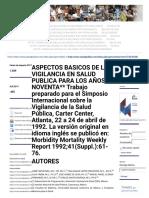 Aspectos Básicos de La Vigilancia en Salud Pública Para Los Años Noventa _ Sepulveda _ Salud Pública de México