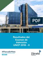 Academia Zárate  - Resultado Examen de Admisión UNCP 2018 - II.pdf