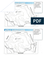 Apele curgatoare - harta