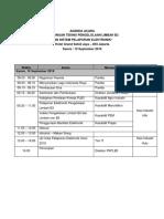 Agenda Acara Launching Siraja 2019 Sahid