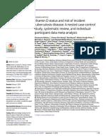 Vitamin D status and risk of incident tuberculosis disease