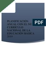PLANIFICACIÓN ANUAL 2019