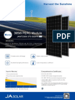JA Solar panel Datasheet