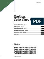 Manual televisión Trinitron