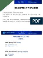 1.Constantes Variables