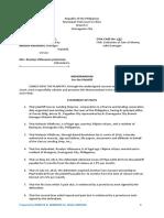 Memorandum for the Plaintiff