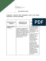 Plan Anual 5 Basico Ciencias 2019 Ok