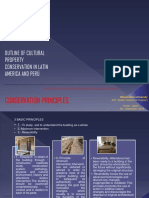 OUTLINE OF CULTURAL PROPERTY CONSERVATION IN LATIN AMERICA AND PERU