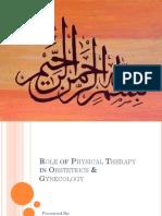 PT in obs & gyne