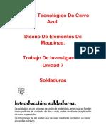 UNIDAD 7 DISEÑO DE ELEMENTOS DE MAQUINAS