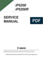 Canon iP5200 Service Manual