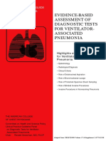 EVIDENCE BASED ASSESSMENT OF DIAGNOSTIC TESTS FOR VENTILATOR ASSOCIATED PNEUMONIA