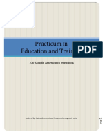 Sample Assessment Questions Practicum in Education and Trai Copy