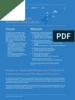 D.2.1. Corporate Vission, Mission, Culture