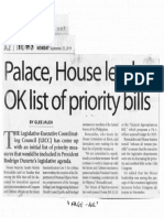 Manila Times, Sept. 23, 2019, Palace, House leaders OK list of priority bills.pdf