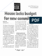 Philippine Daily Inquirer, House lacks budget for new committees.pdf
