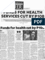 Philippine Daily Inquirer, Sept. 23, 2019, Funds for Health Services cut by P10B.pdf