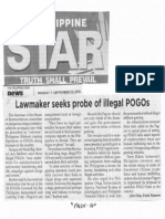 Philippine Star, Sept. 23, 2019, Lawmaker seeks probe of illegal POGOs.pdf