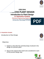 Lec 2 Introduction to Plant Design