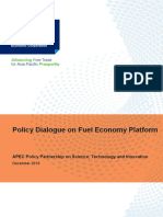 Policy Dialogue on Fuel Economy Platform