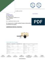 Cg19-0049cc Hub Ingenieria Compresor Portatil p250