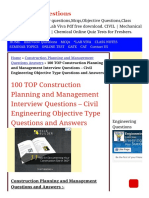 100 Top Construction Planning and Management Mcqs