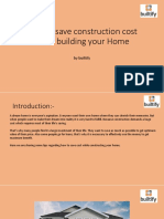 Saving Construction cost while building home