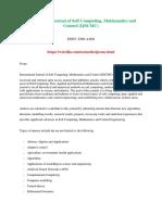 International Journal of Soft Computing, Mathematics and Control