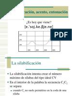silabificación