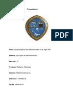 Características Del Administrador