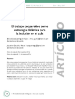 EL trabajo cooperativo como estrategia didactica para la inclusion en el aula