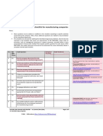 ISO 9001 2015 Internal Audit Checklist for Manufacturing Companies En