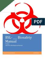 Laboratory Specific Biosafety Manual