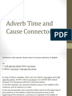 adverbtime and cause connectors