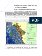 Kaleidoskop Kejadian Gempabumi Di Wilayah Sumatera Barat 2017
