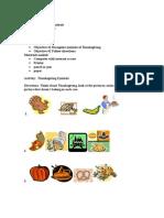 Activity Sheet   Kindergarten   Thanksgiving Symbols