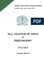 M A Philosophy