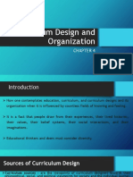 Report - Curriculum Design and Organization