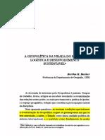 BECKER, B Geopolítica Na Virada Do Milênio