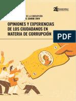 Barómetro Global de La Corrupción América Latina y El Caribe 2019
