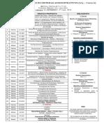 Cronograma Sistema administrativos