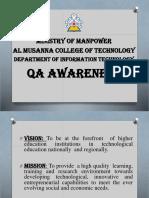 QA Awareness - Students