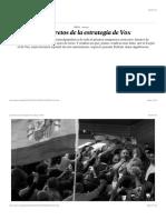 Los secretos de la estrategia de Vox | Ideas | EL PAÍS